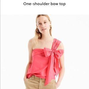 J Crew one shoulder bow top